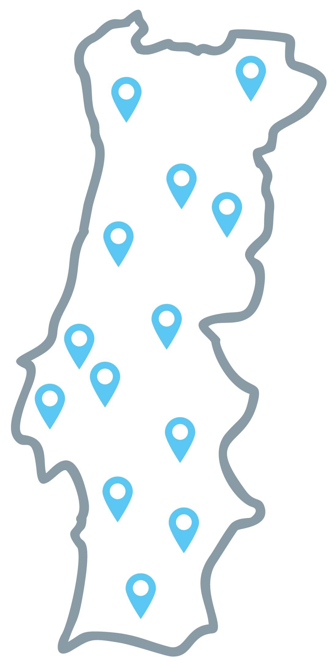 Mapa - Reciclar no Sentido Certo